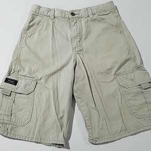 Wrangler Bottoms - Boys khaki 14 regular Wrangler shorts